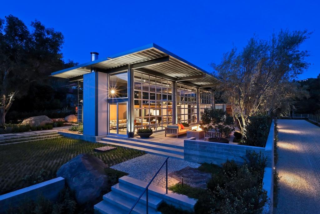 Стеклянный дом Montecinto Residence от Barton Myers Associates 14