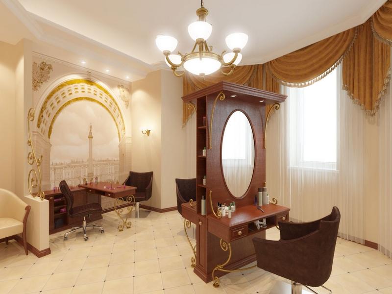 Дизайн интерьера помещения салона красоты 3