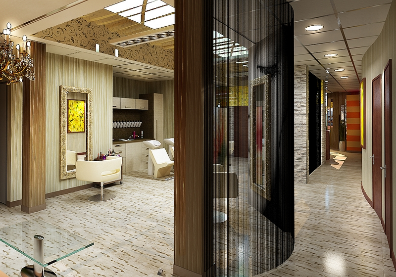 Дизайн интерьера помещения салона красоты 4