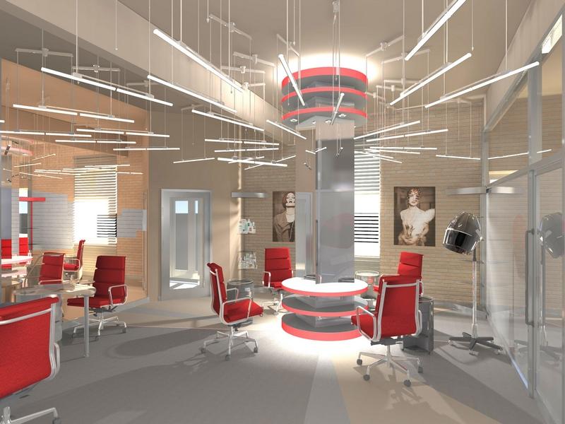 Дизайн интерьера помещения салона красоты 6
