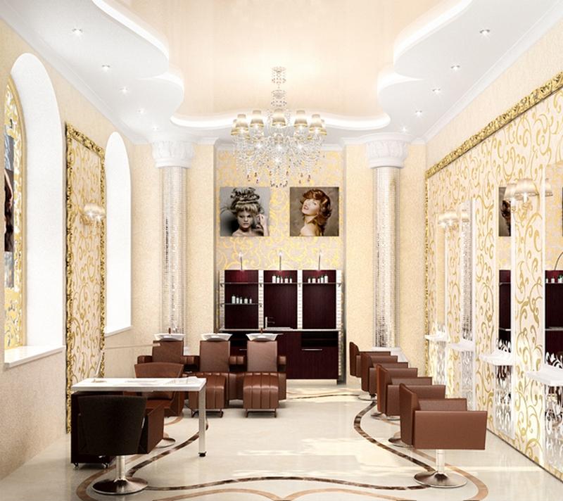 Дизайн интерьера помещения салона красоты 7