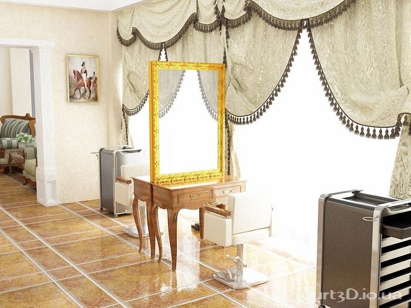 Дизайн интерьера помещения салона красоты 10