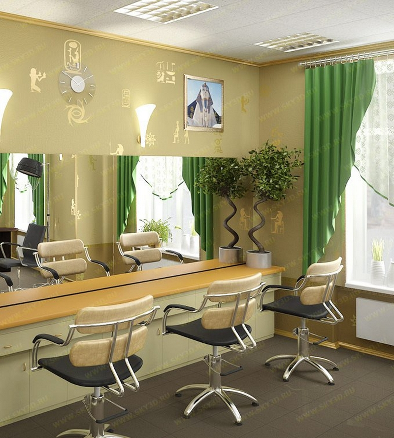 Дизайн интерьера помещения салона красоты 11