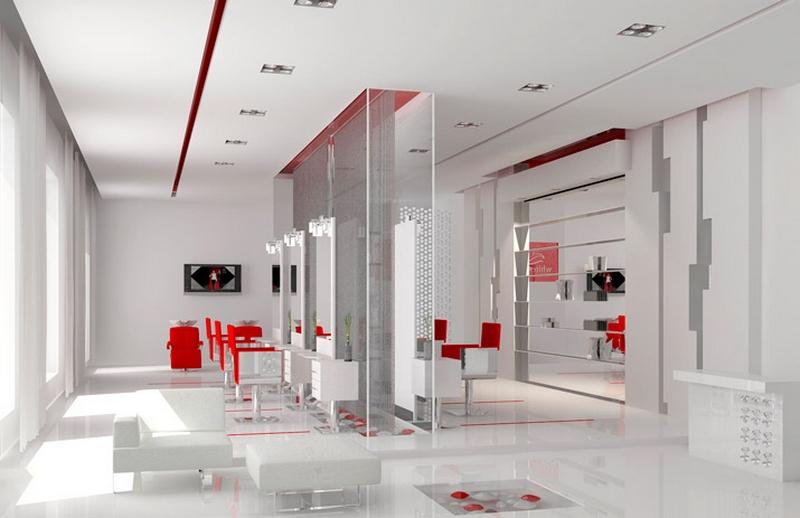 Дизайн интерьера помещения салона красоты 22