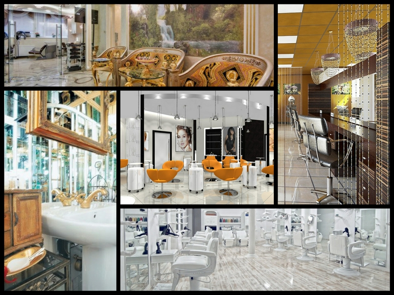 Дизайн интерьера помещения салона красоты