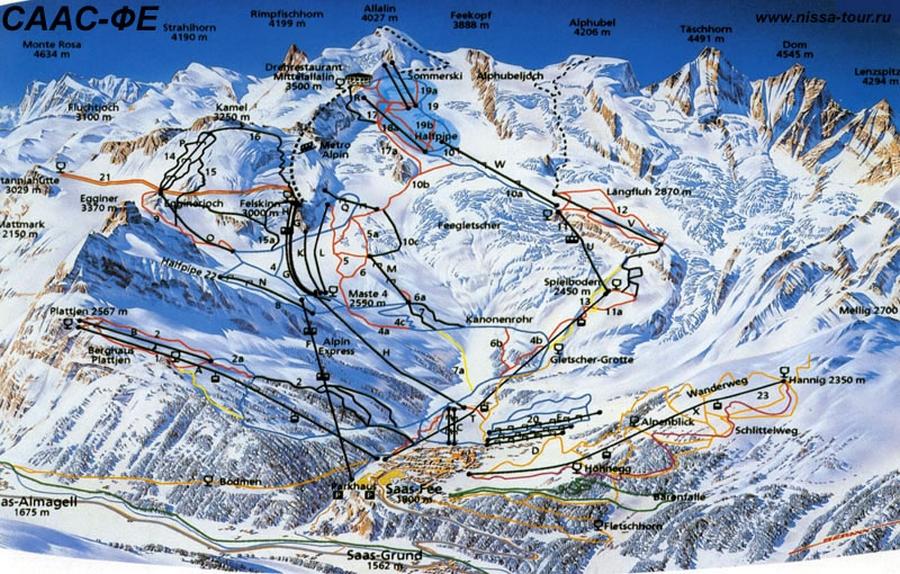 Саас фе - швейцарские горнолыжные курорты 2