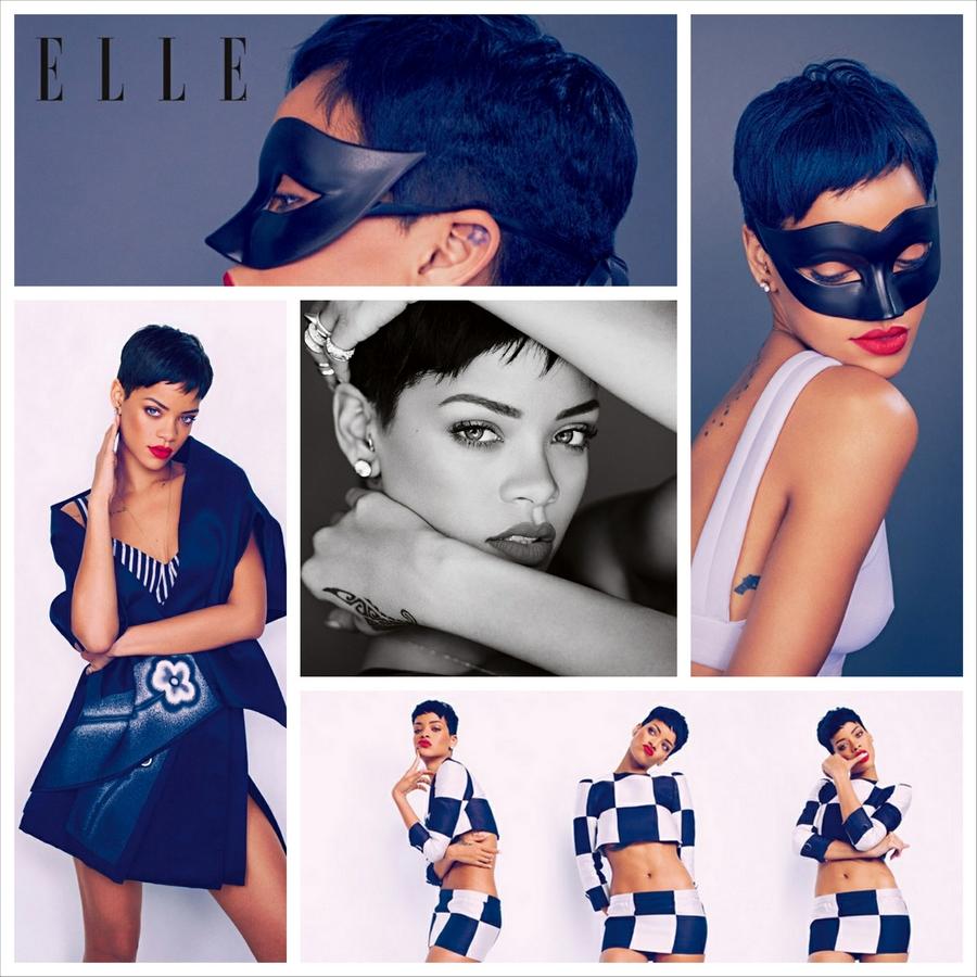 Фотосессия Рианны для журнала ELLE UK