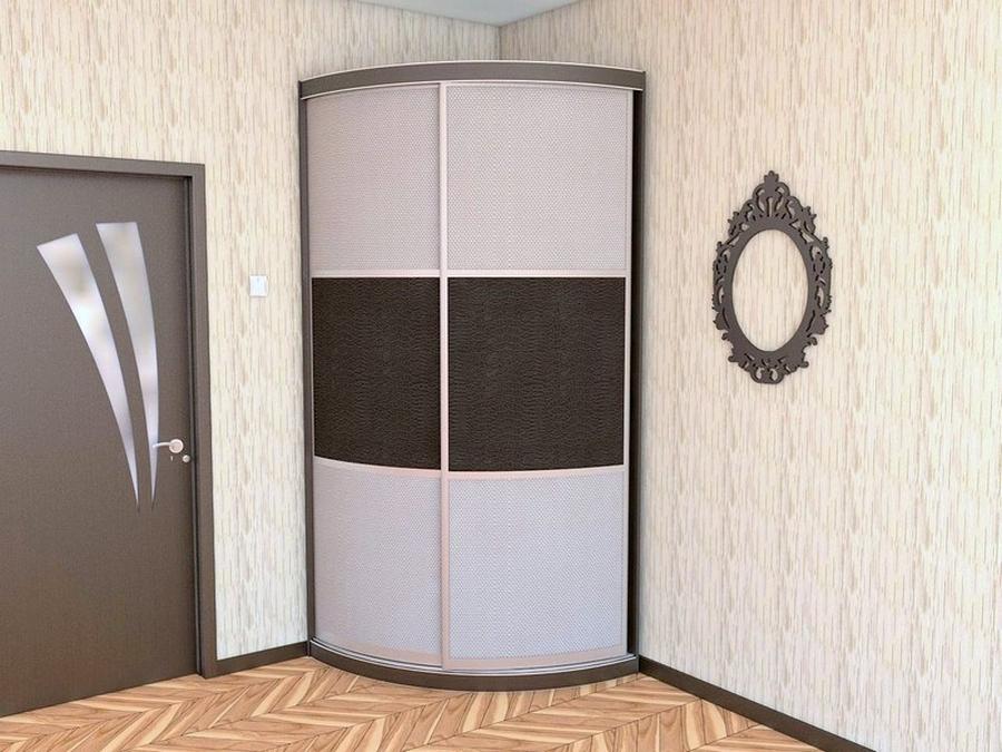 Встроенный угловой шкаф купе в интереьре 20