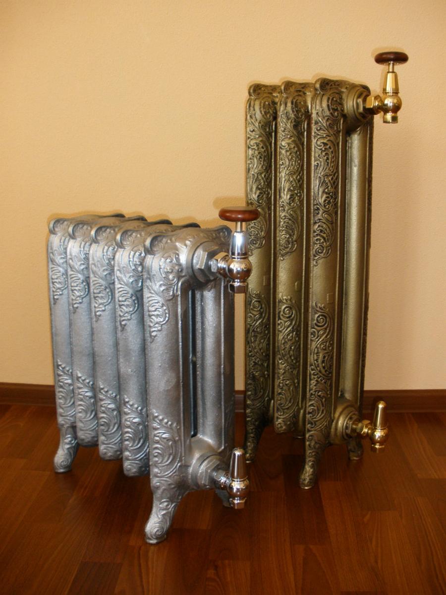 Модные чугунные радиаторы отопления в интерьере вашего дома 26