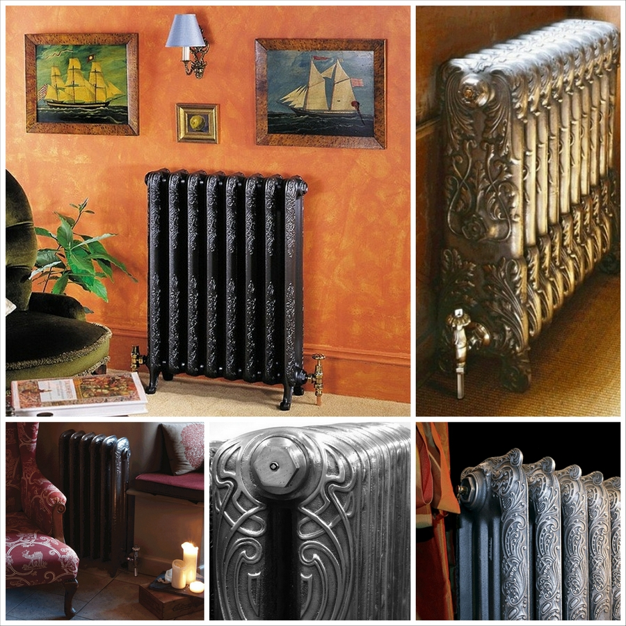 Модные чугунные радиаторы отопления в интерьере вашего дома