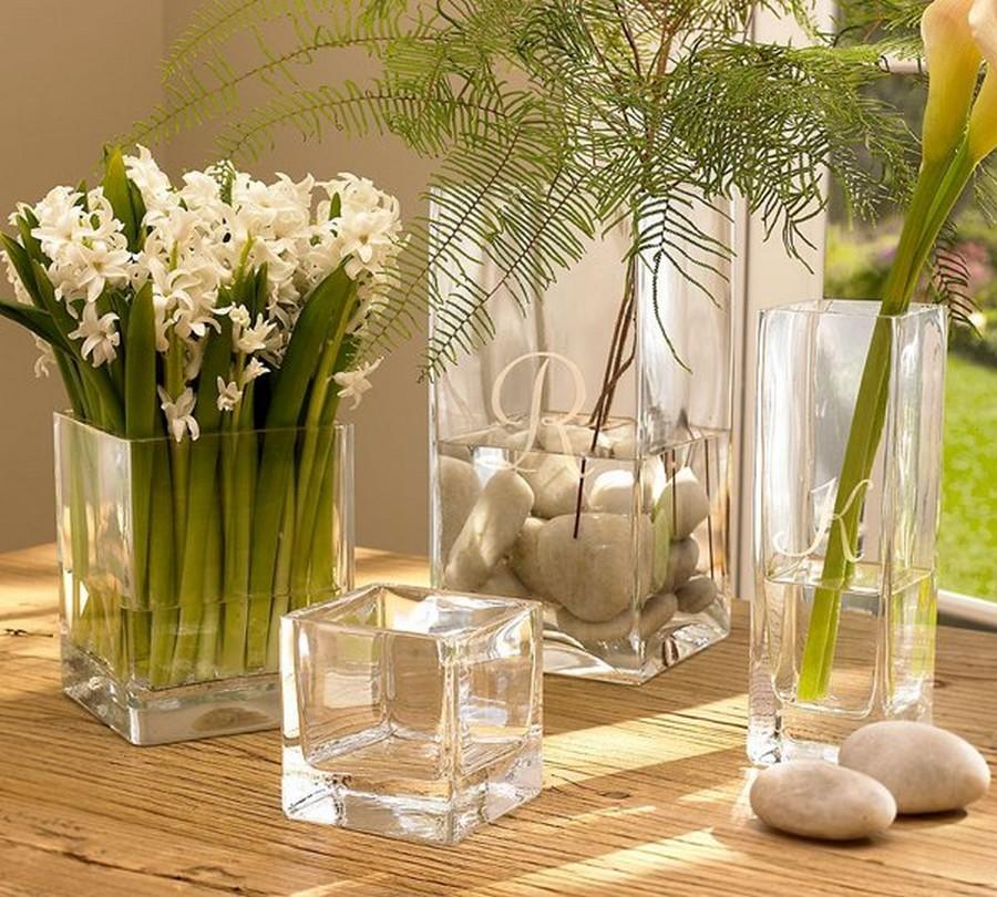Стеклянная ваза - изысканное украшение к празднику  4