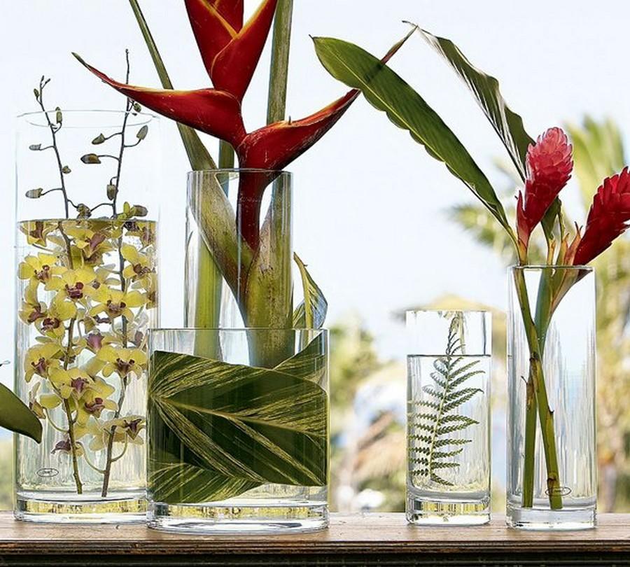 Стеклянная ваза - изысканное украшение к празднику  5