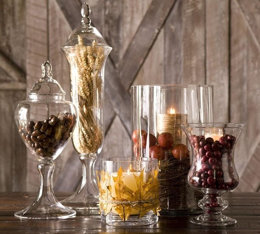 Стеклянная ваза - изысканное украшение к празднику  6