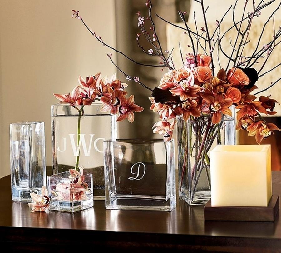 Стеклянная ваза - изысканное украшение к празднику  7