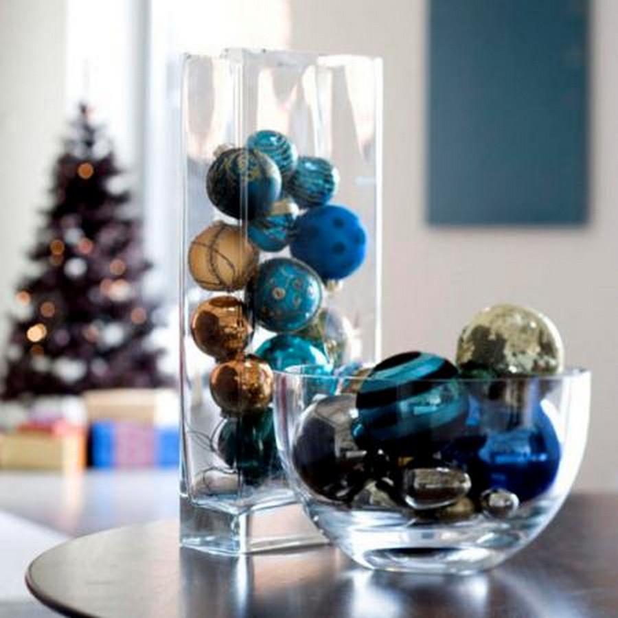Стеклянная ваза - изысканное украшение к празднику  8