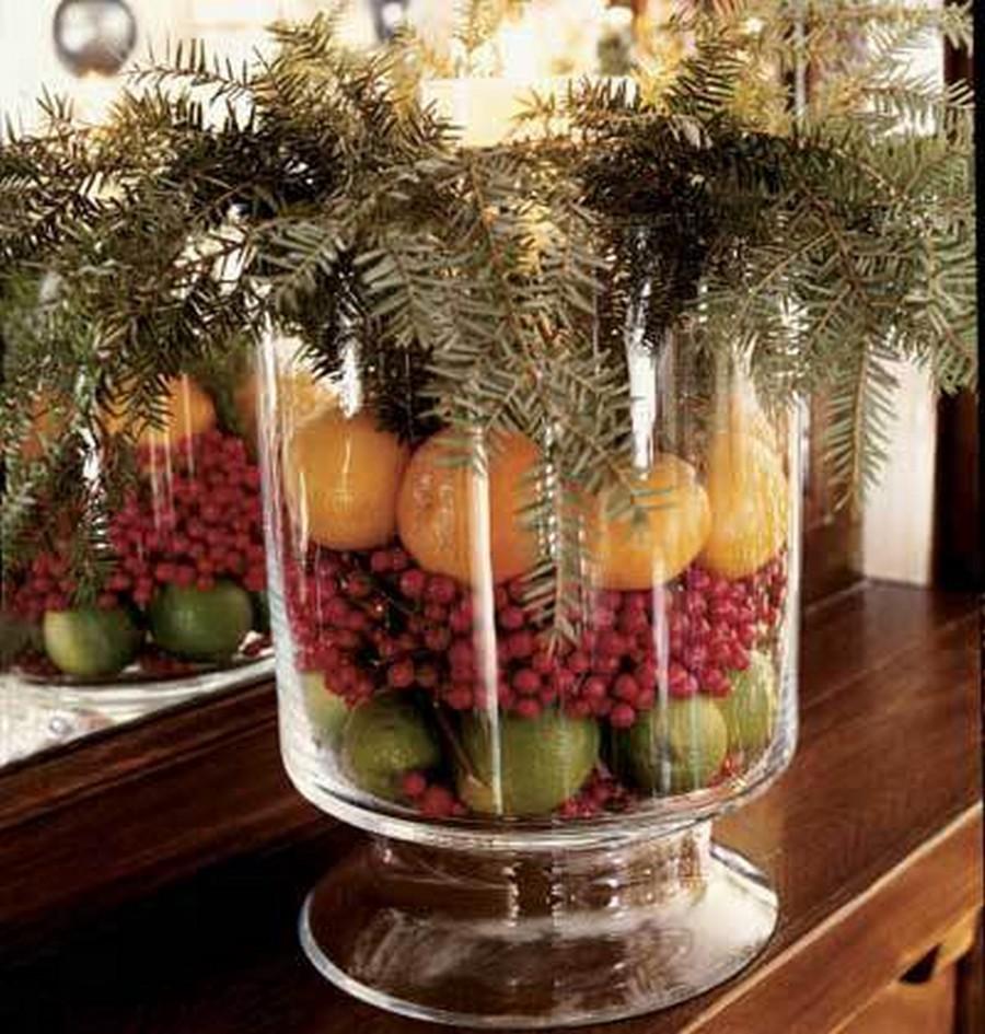 Стеклянная ваза - изысканное украшение к празднику  9