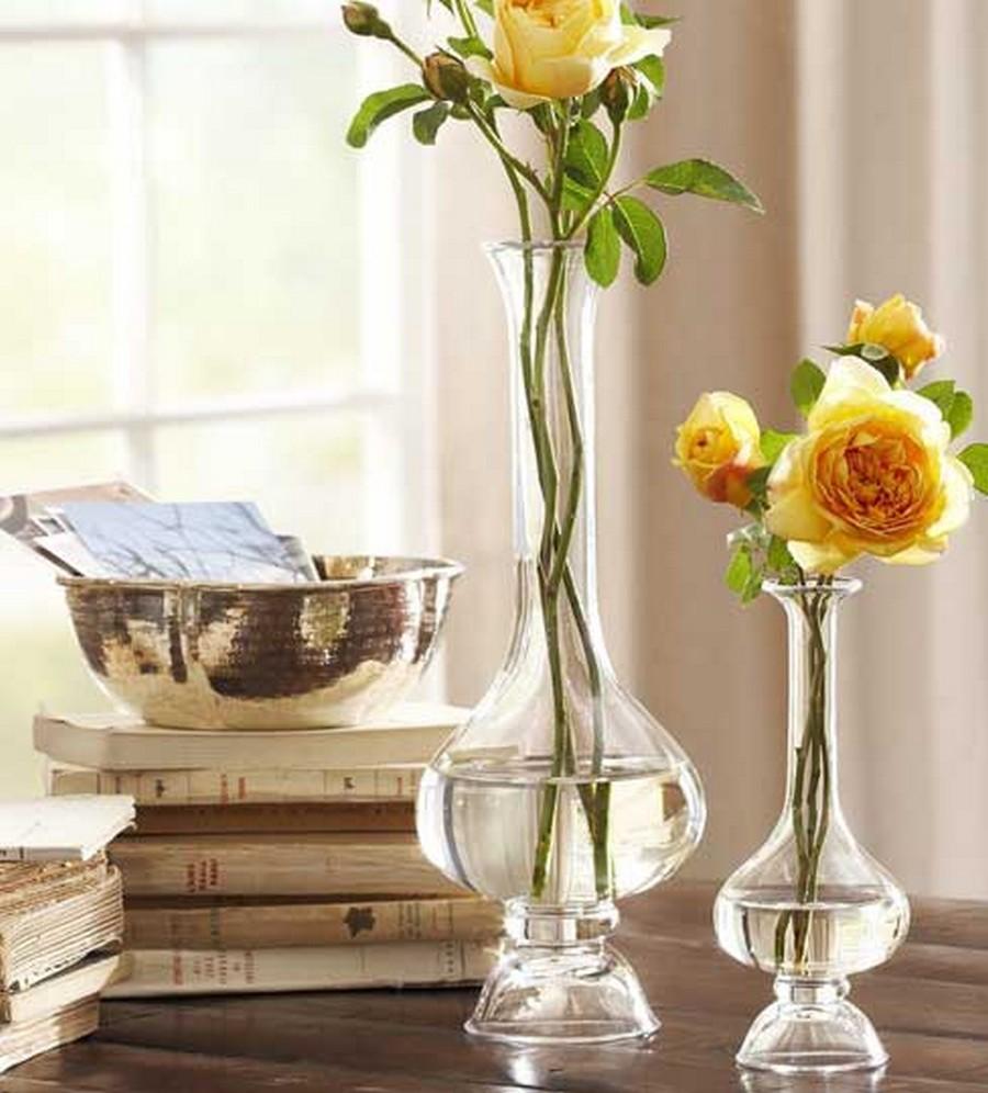 Стеклянная ваза - изысканное украшение к празднику  10
