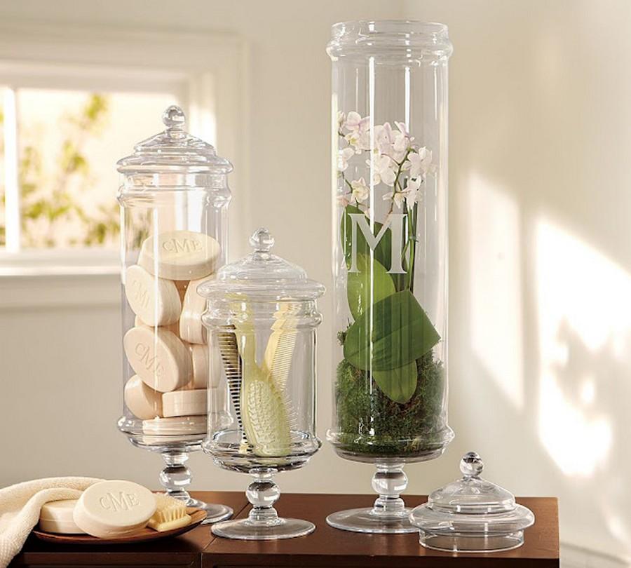 Стеклянная ваза - изысканное украшение к празднику  12