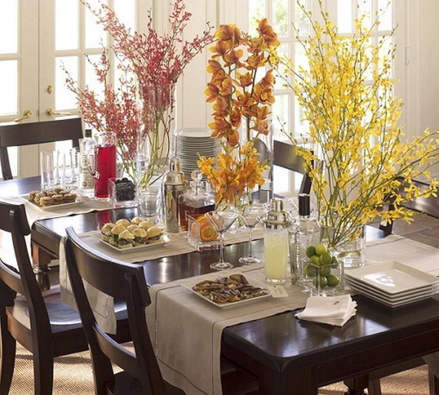 Стеклянная ваза - изысканное украшение к празднику  13