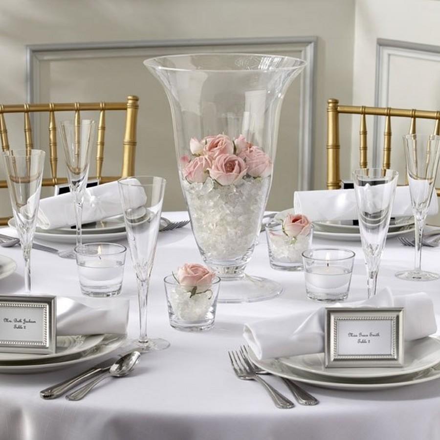 Стеклянная ваза - изысканное украшение к празднику  14
