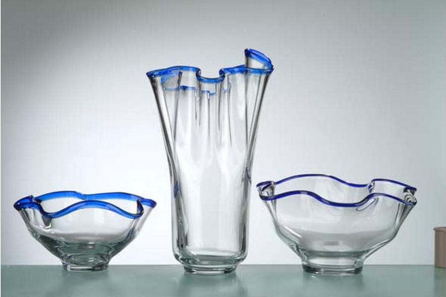 Стеклянная ваза - изысканное украшение к празднику  20