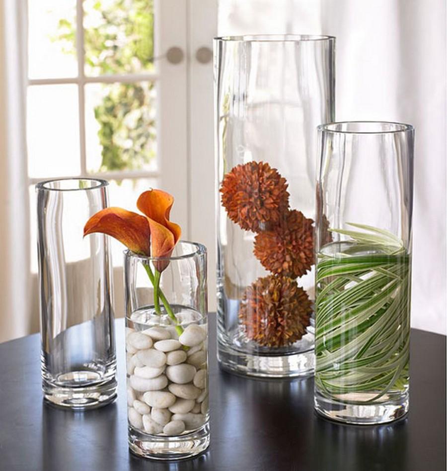 Стеклянная ваза - изысканное украшение к празднику  24
