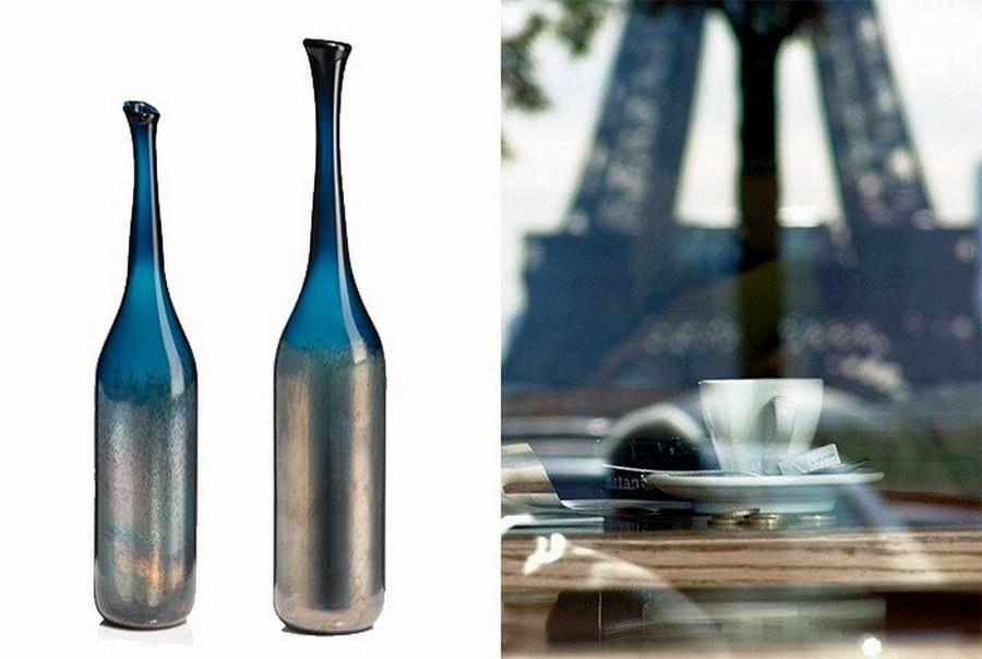 Стеклянная ваза - изысканное украшение к празднику  25