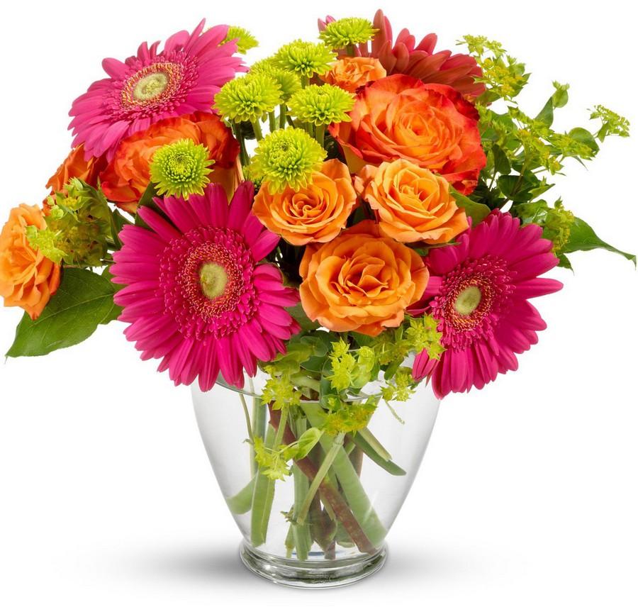 Стеклянная ваза - изысканное украшение к празднику  27