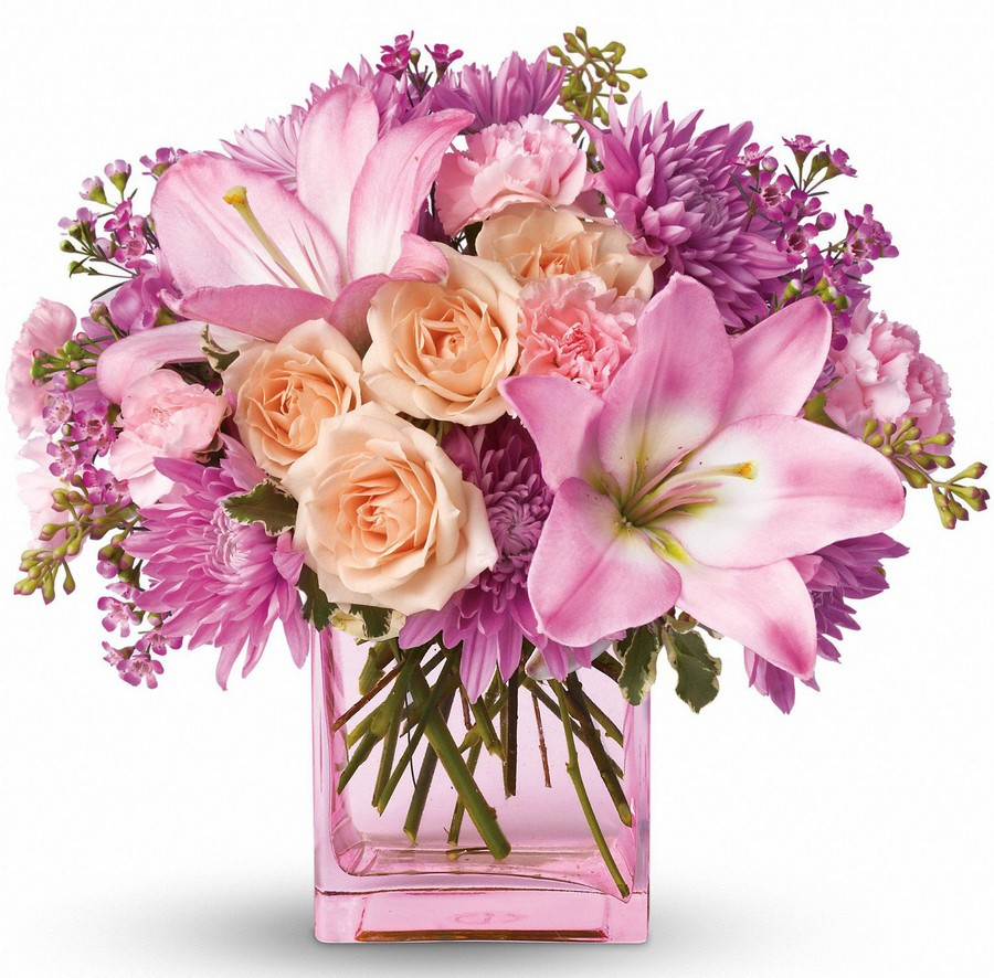 Стеклянная ваза - изысканное украшение к празднику  28