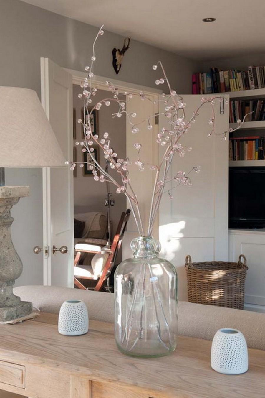Стеклянная ваза - изысканное украшение к празднику  29