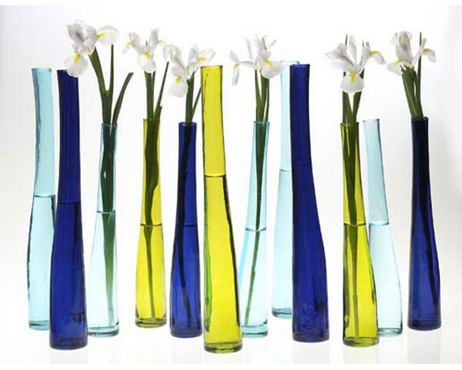 Стеклянная ваза - изысканное украшение к празднику  32