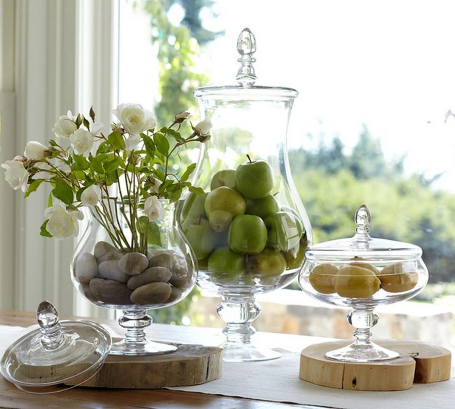 Стеклянная ваза - изысканное украшение к празднику  33