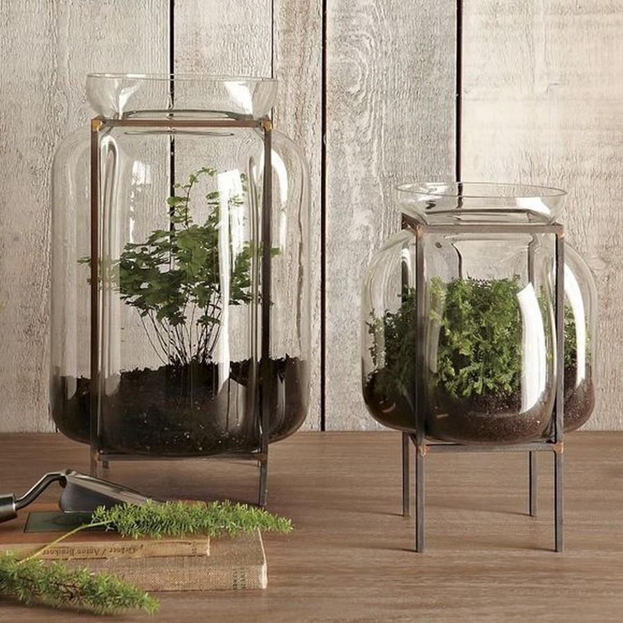 Стеклянная ваза - изысканное украшение к празднику  34
