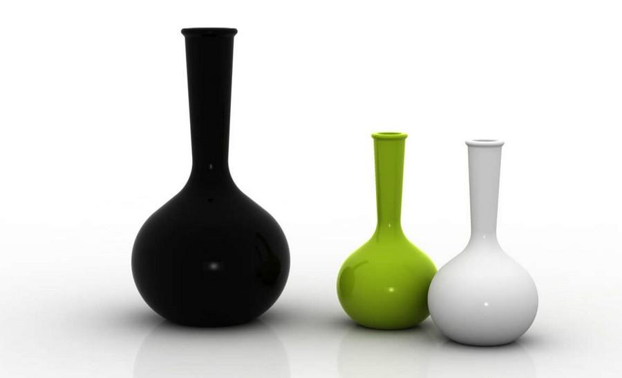 Стеклянная ваза - изысканное украшение к празднику  41
