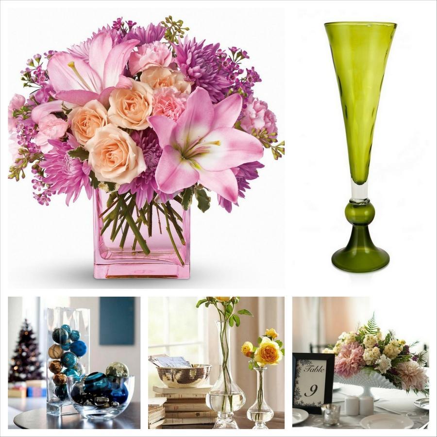 Стеклянные вазы - изысканное украшение к празднику