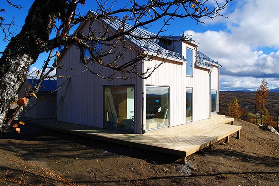 Интересный проект дома на горе 21