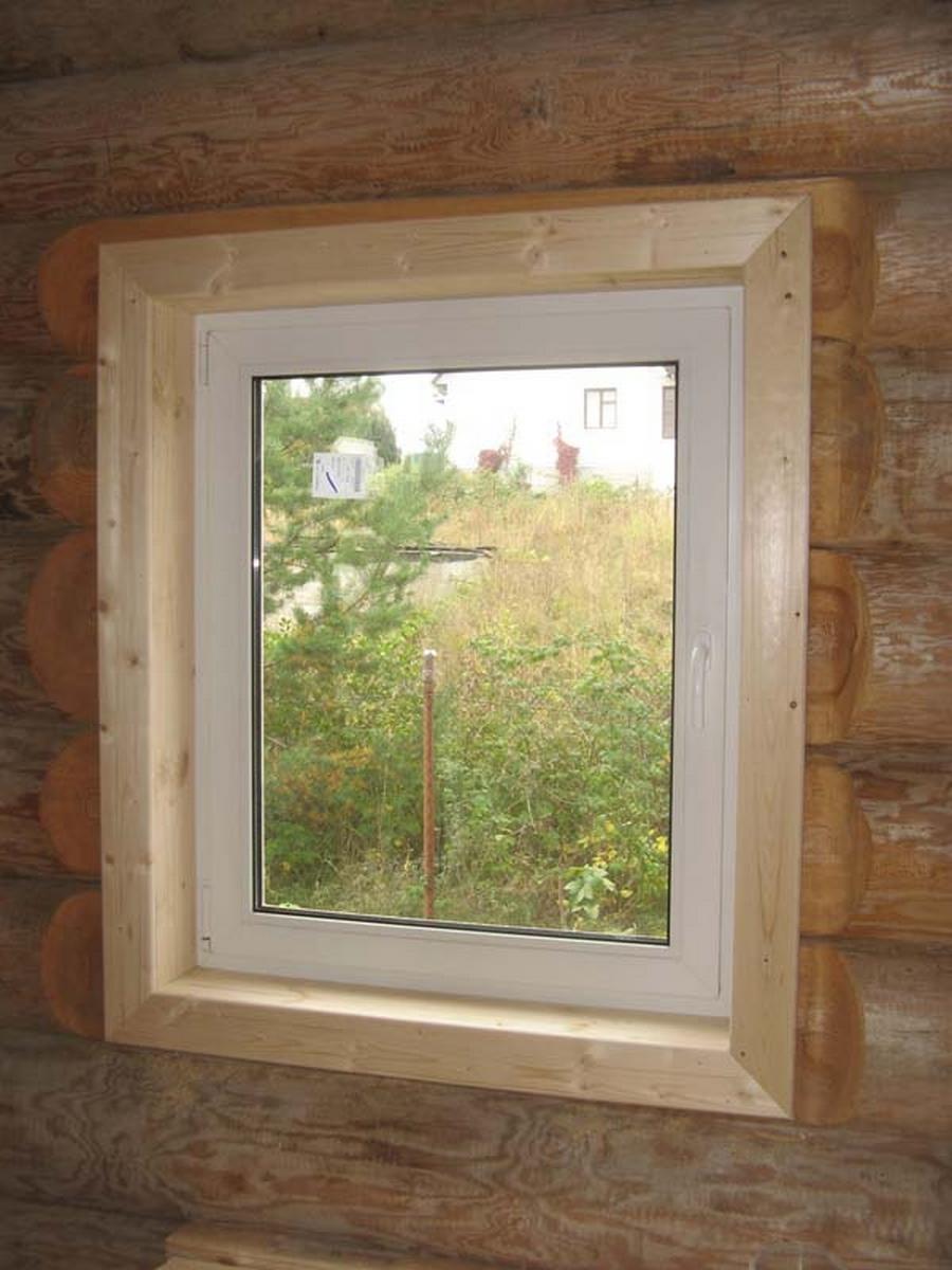 Современные окна пластиковые в деревянном доме 2