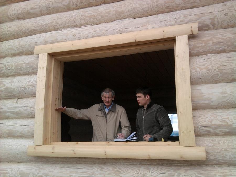 Современные окна пластиковые в деревянном доме 3