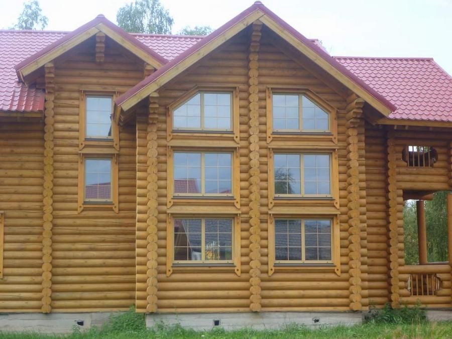 Современные окна пластиковые в деревянном доме 4