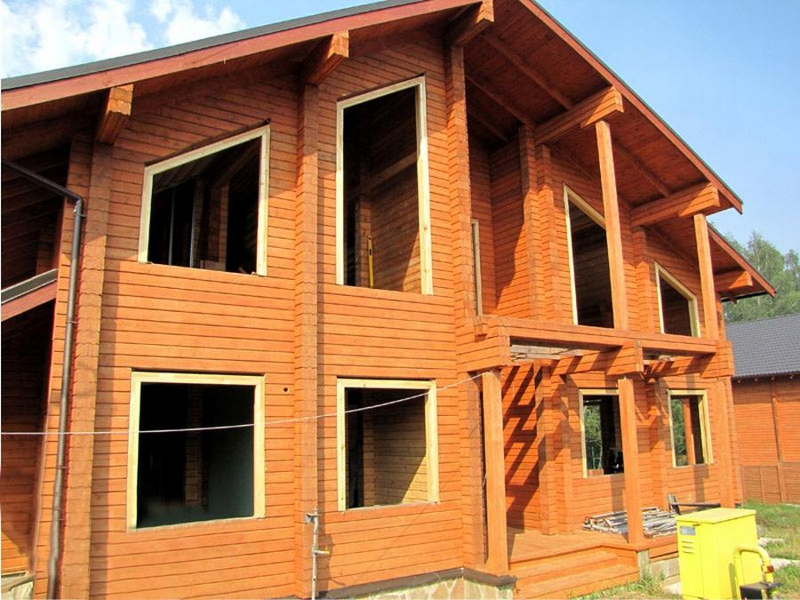 Современные окна пластиковые в деревянном доме 5