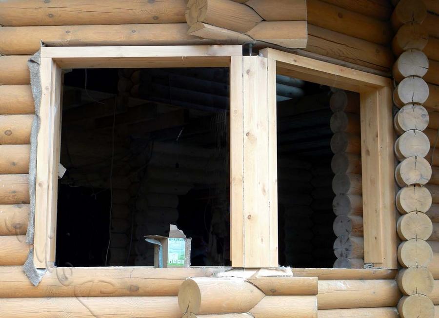 Современные окна пластиковые в деревянном доме 8