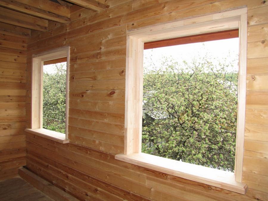 Современные окна пластиковые в деревянном доме 9