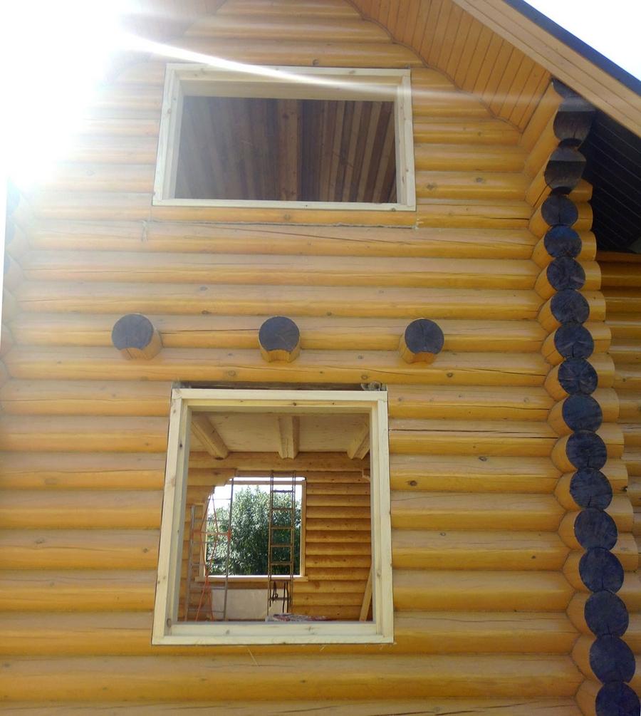 Современные окна пластиковые в деревянном доме 10