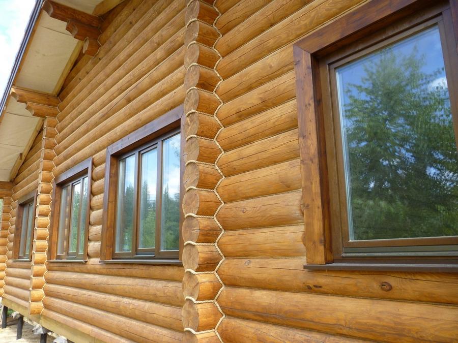 Современные окна пластиковые в деревянном доме 11
