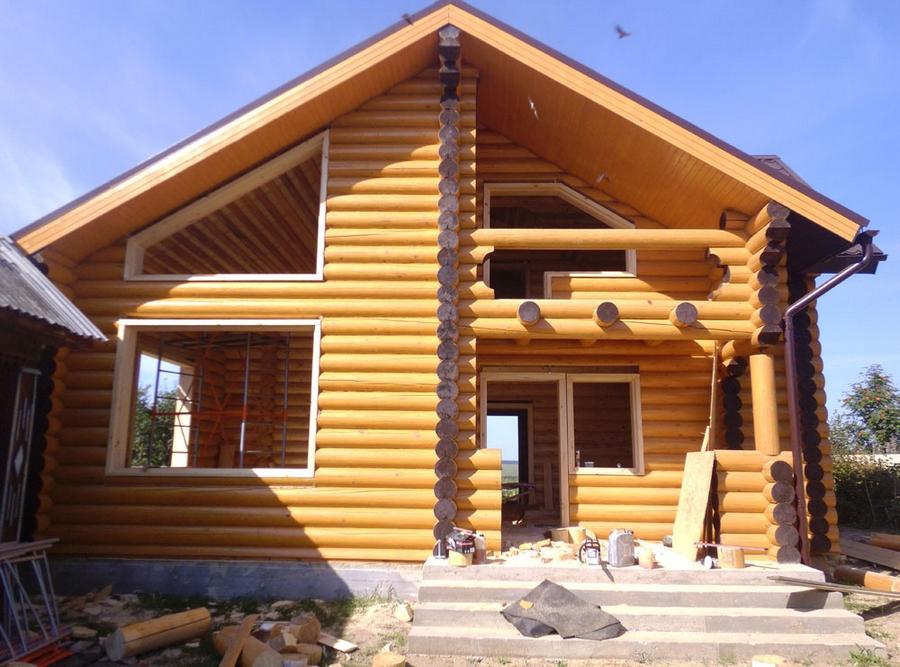 Современные окна пластиковые в деревянном доме 12