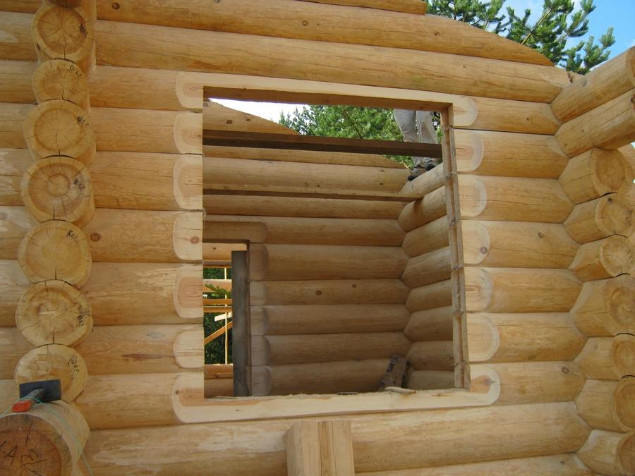 Современные окна пластиковые в деревянном доме 13