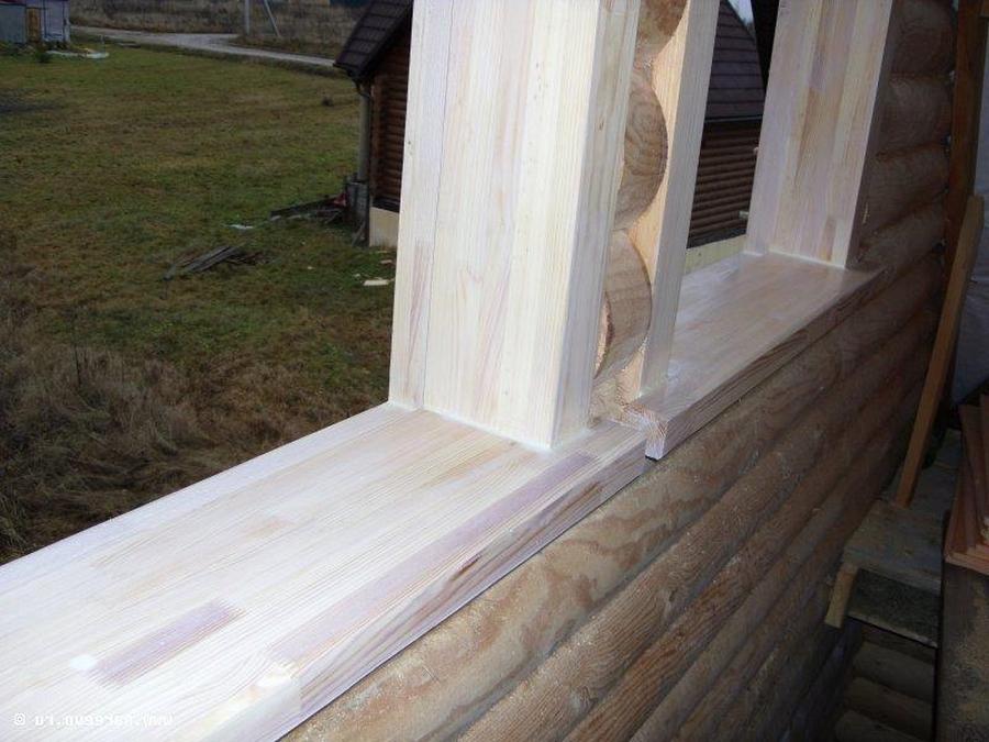 Современные окна пластиковые в деревянном доме 14