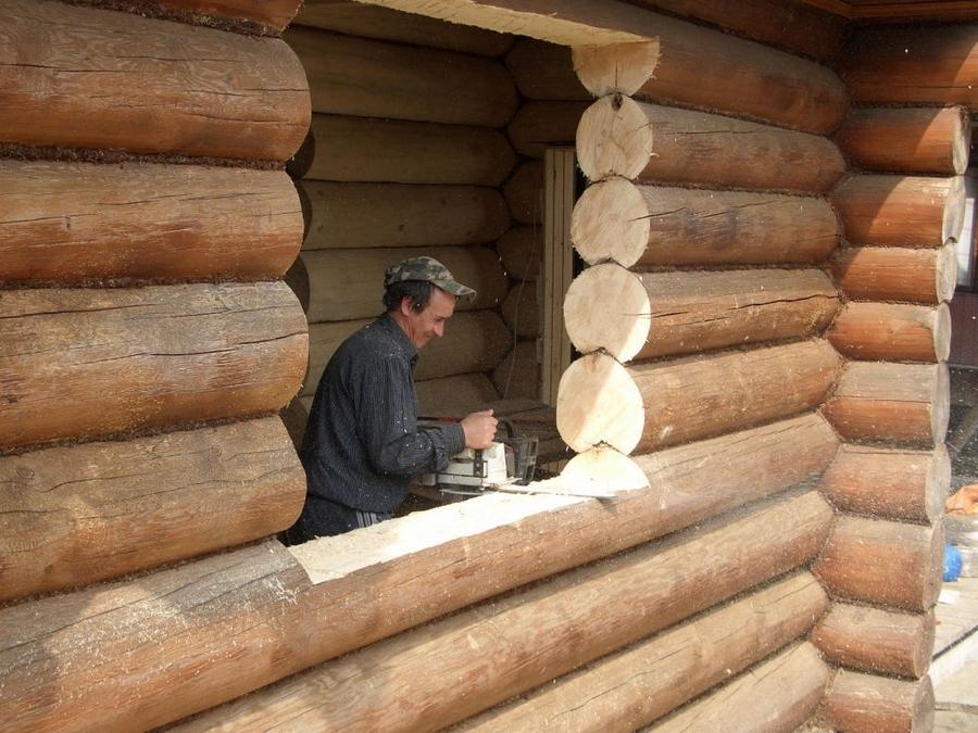 Современные окна пластиковые в деревянном доме 15