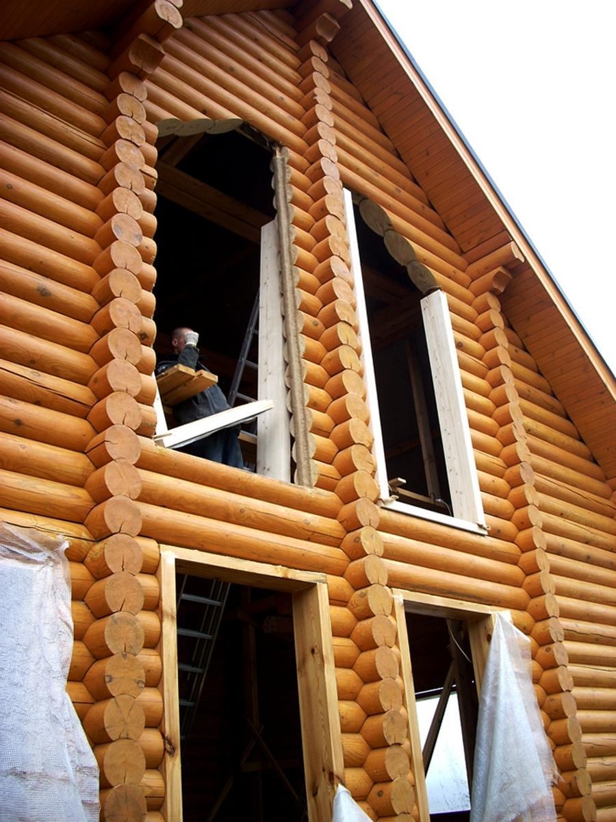 Современные окна пластиковые в деревянном доме 16