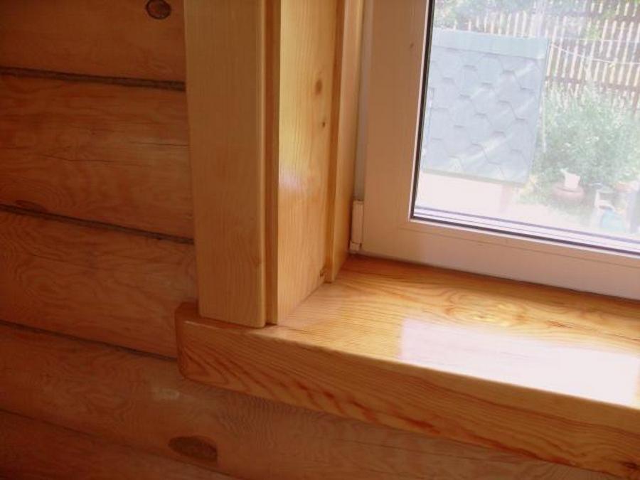 Современные окна пластиковые в деревянном доме 17